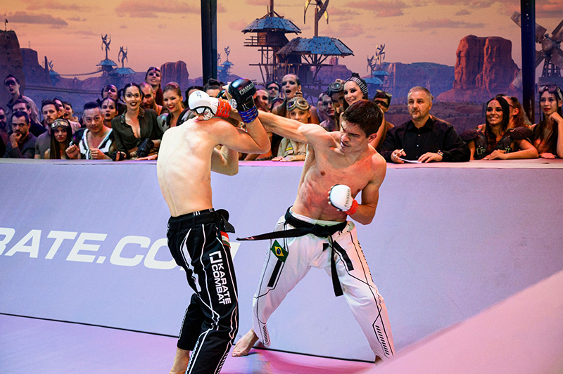 karate combat punch